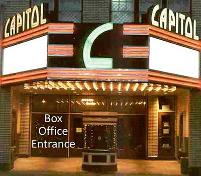 The Capitol Theatre Box Office in Chambersburg, PA